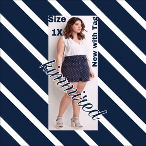 🆕 Forever 21 Diamond Print Bow Shorts ~ 1X ~ NWT